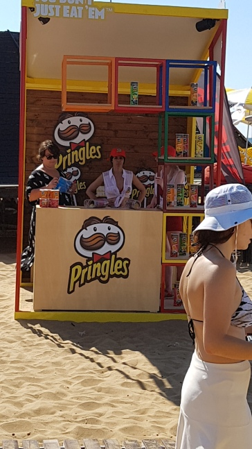 The Pringles shop - an essential accessory on all good beaches