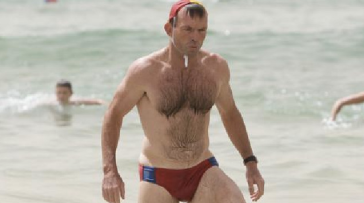 Tony Abbott in Budgie smugglers