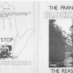 Franklin Blockade promotional and info leaflet side 1