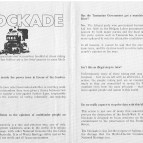 Franklin Blockade promotional and info leaflet side 2