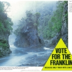 Rock Island Bend Vote for the Franklin Poster