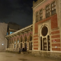 The central Istanbul station - but you can't leave from here