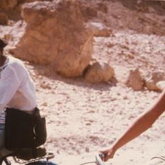 Bernard and Caroline en route to Valley of the Kings
