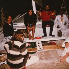 Francoise, Bernard, Alain, Saiid, Myriame, Caroline 3rd night